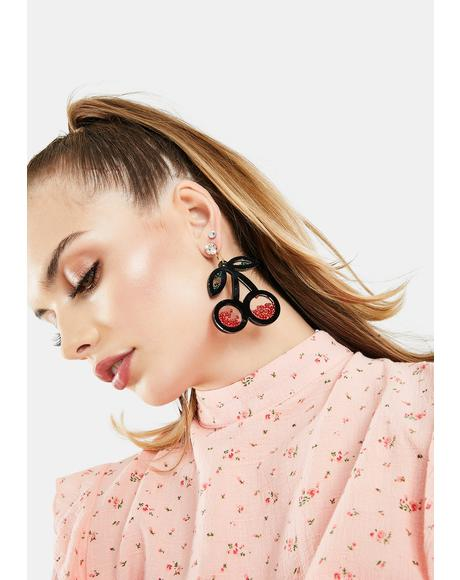 Tempting Taste Cherry Earrings