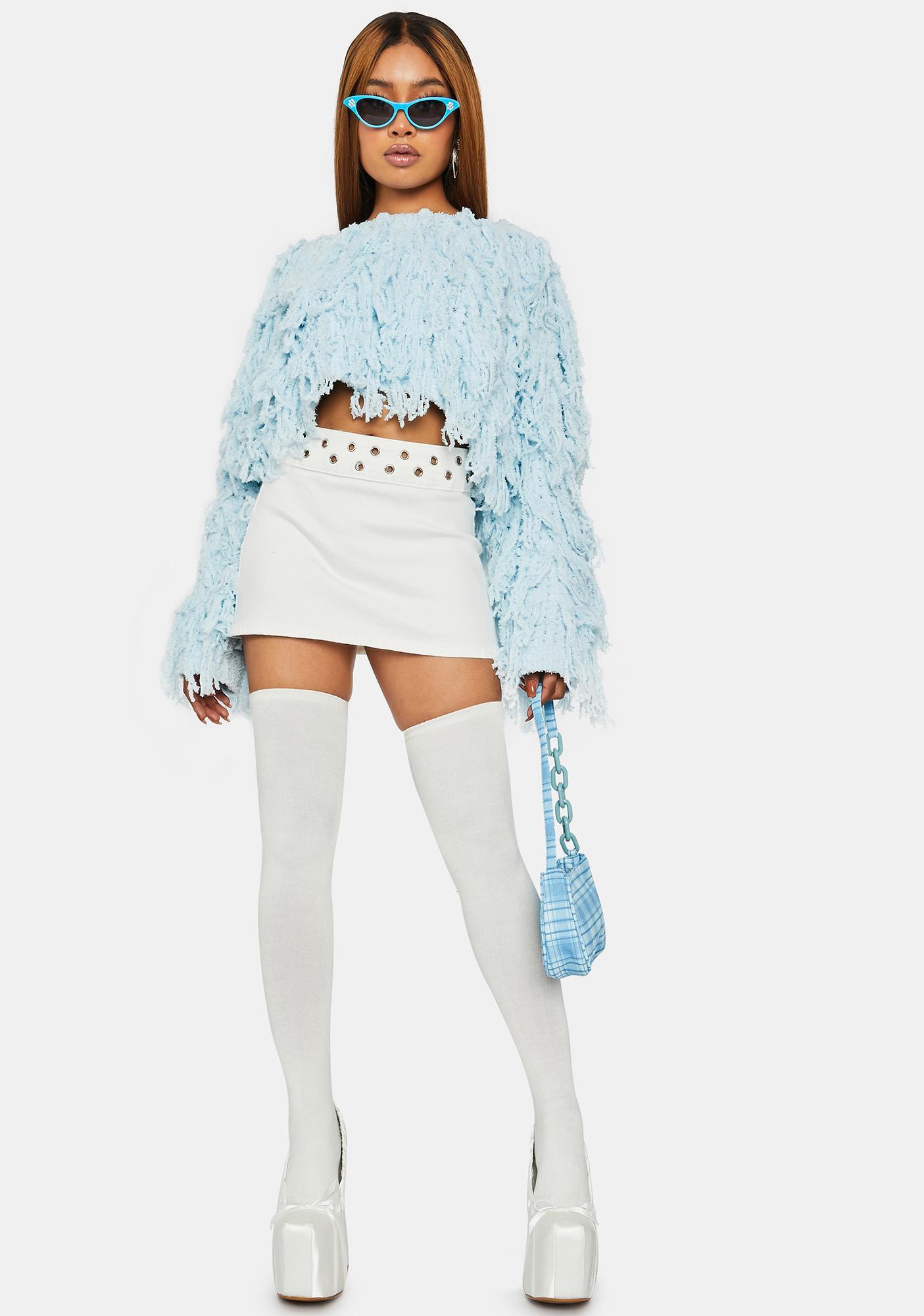 Sky Shag Me Good Fringe Sweater