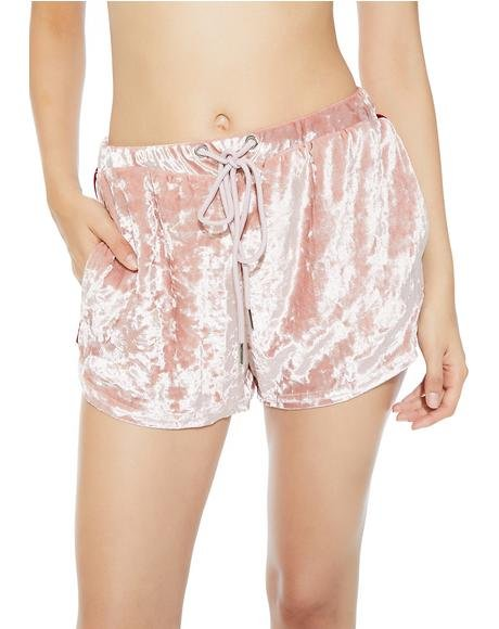 Heartbreaker Velour Shorts