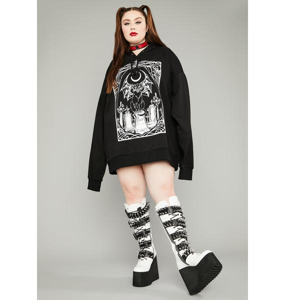 Dolls Kill Lethal Living Dead Graphic Hoodie
