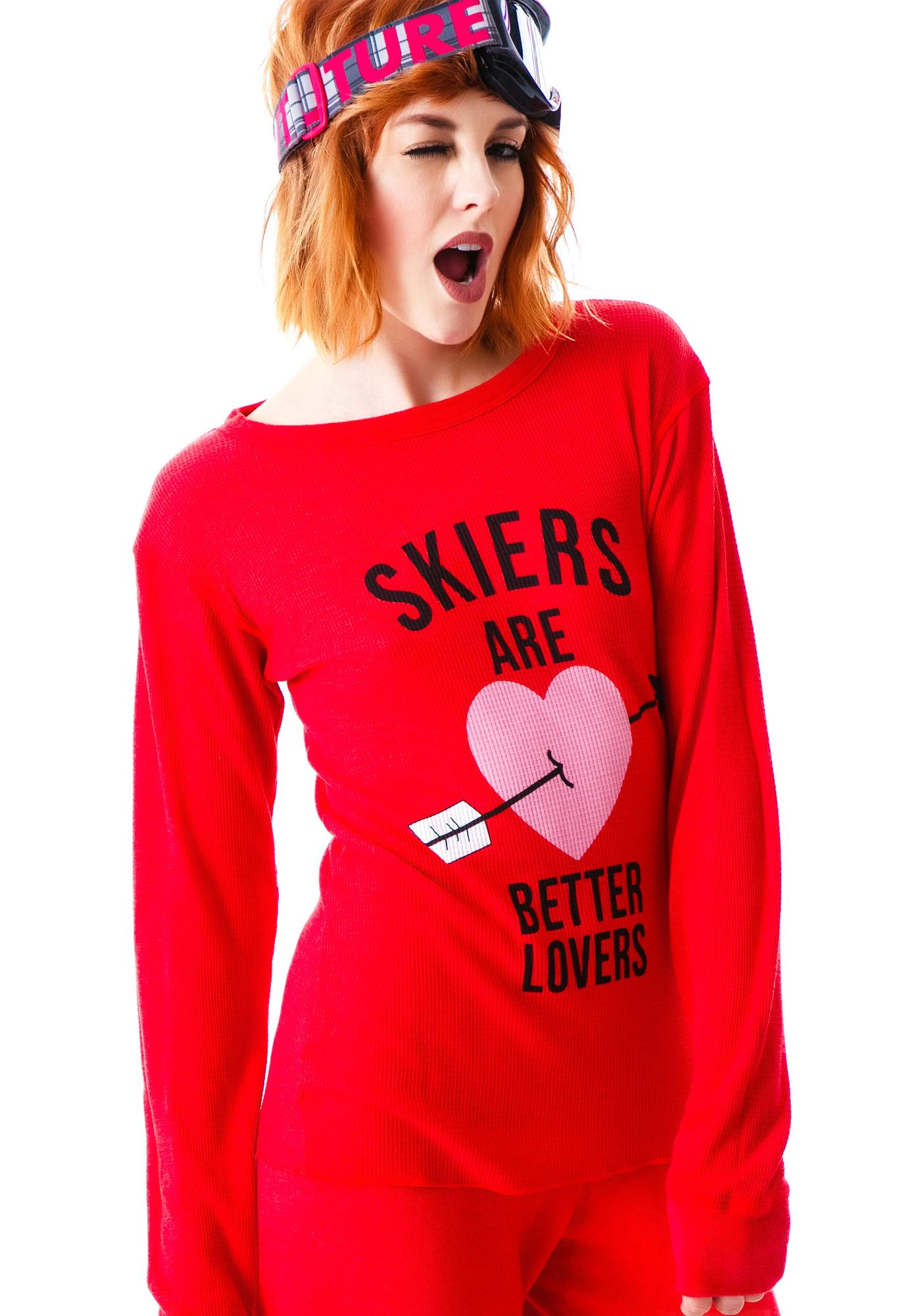 Wildfox Couture Skiers Are Better Lovers Chalet Thermal