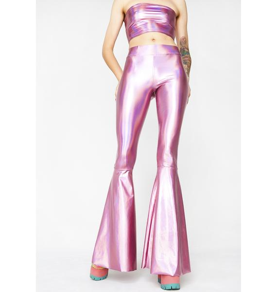 Club Exx Microdot Fembot Bell Bottoms