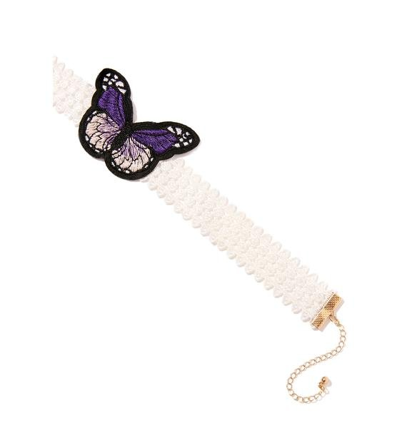Flutter Away Butterfly Choker