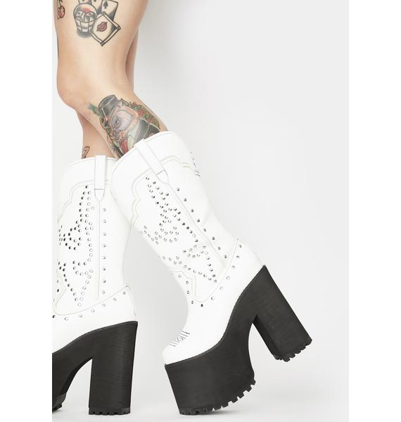 Y.R.U. Pure Bad Bitch Platform Cowboy Boots