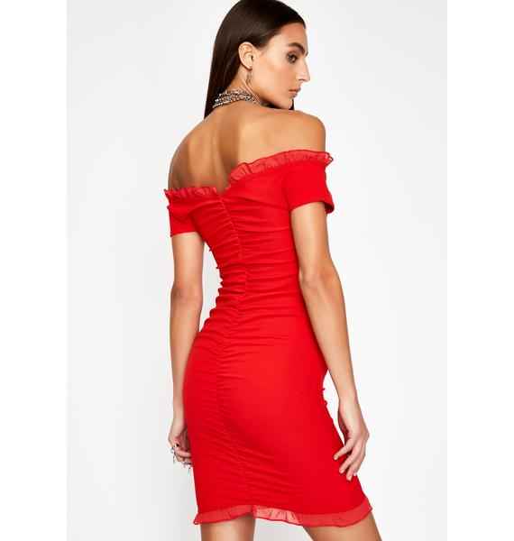 Spicy Feelings Ruched Dress