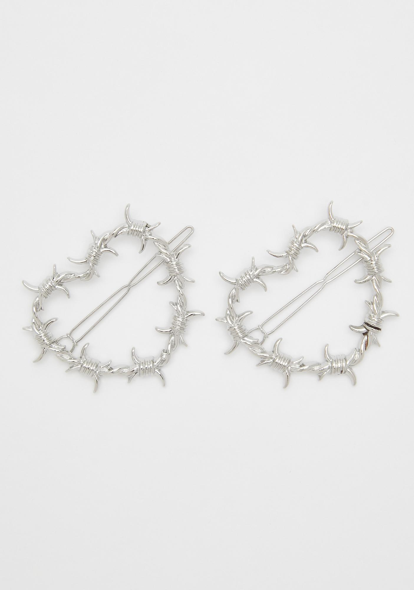 Steel Your Heart Hair Clips