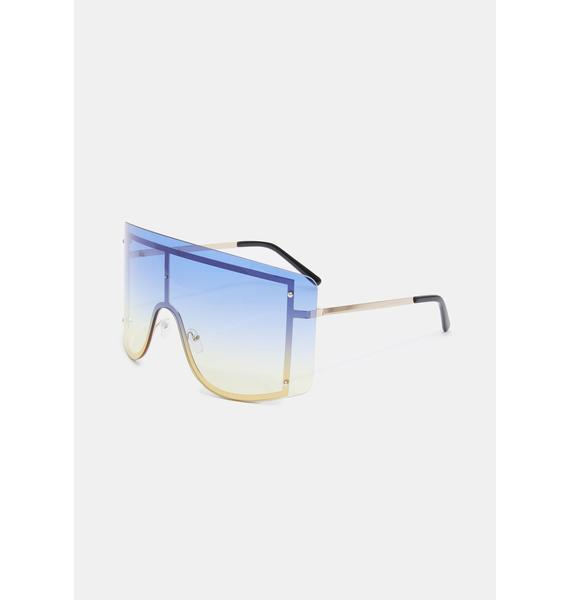 Ocean Big Dreams Oversized Sunglasses