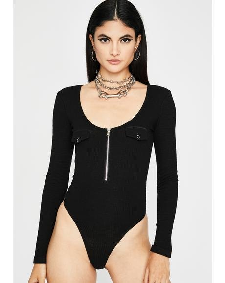 Baesic Behavior Ribbed Bodysuit