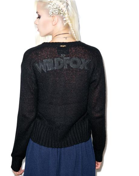 Wildfox Ballet High Waist Cardigan