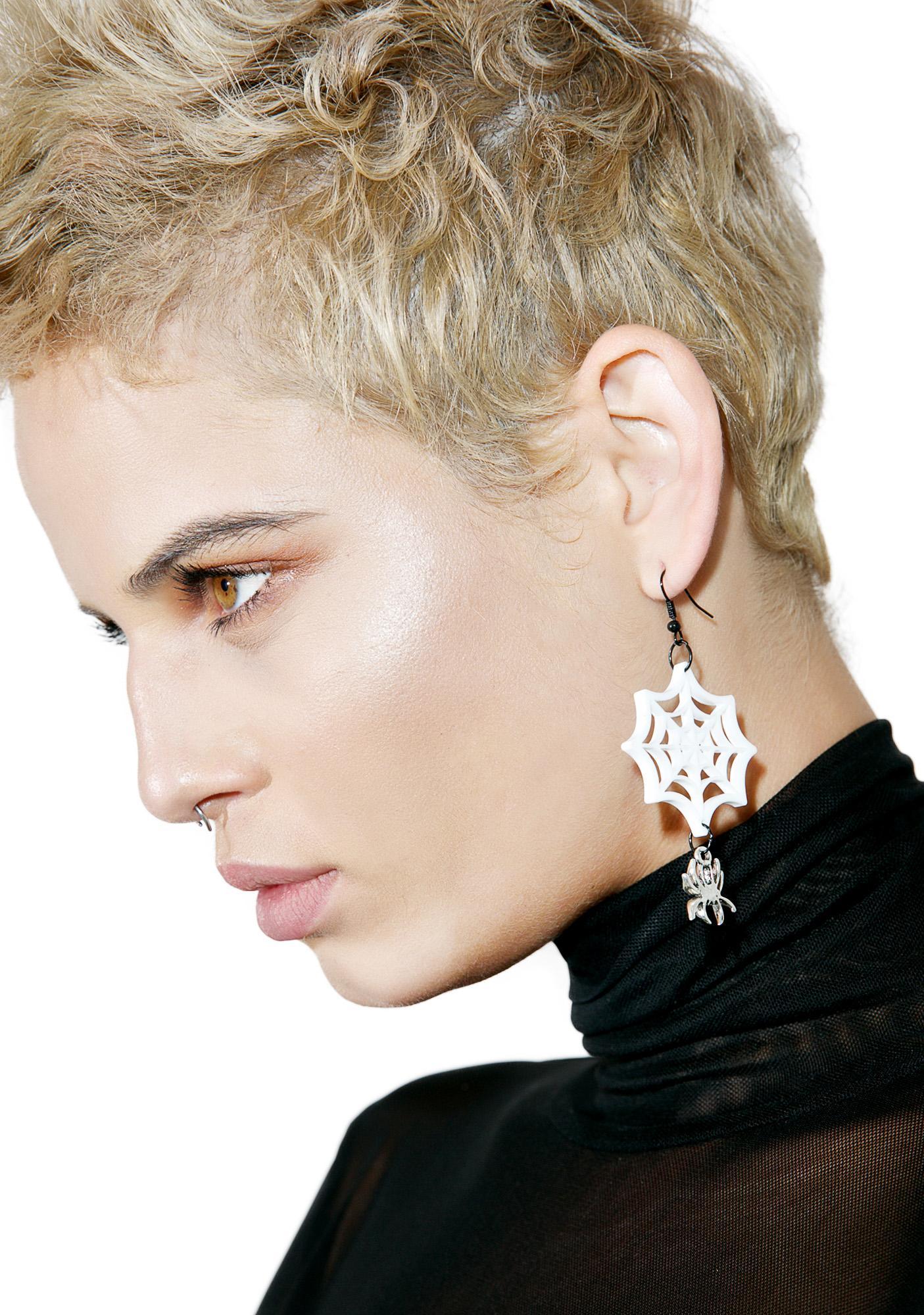 Widow Web Earrings