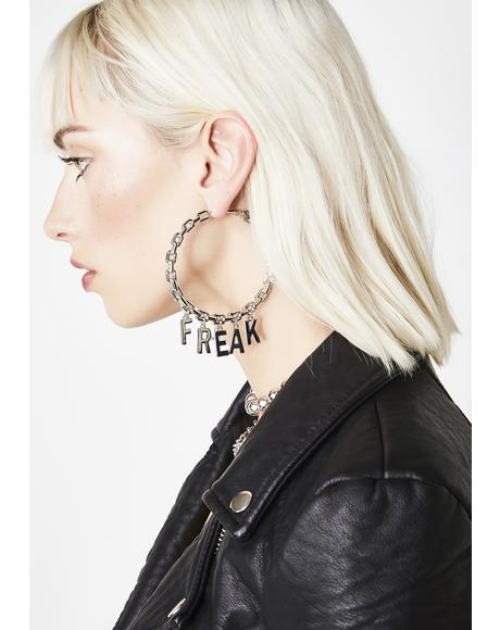Freak Nasty Hoop Earrings