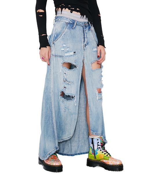 One Teaspoon Blue Jane Mrs Carter Skirt