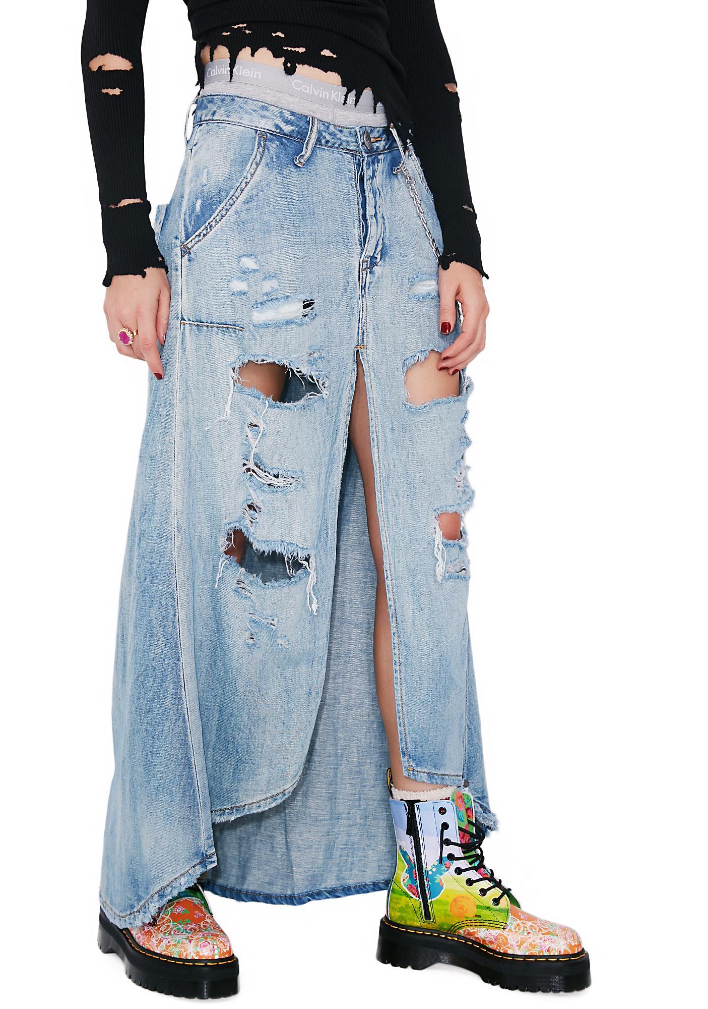 16e0014fef6d One Teaspoon Blue Jane Mrs Carter Skirt | Dolls Kill