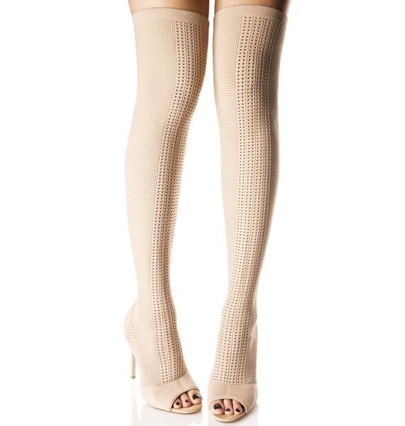 Myth Thigh-High Sock Boots