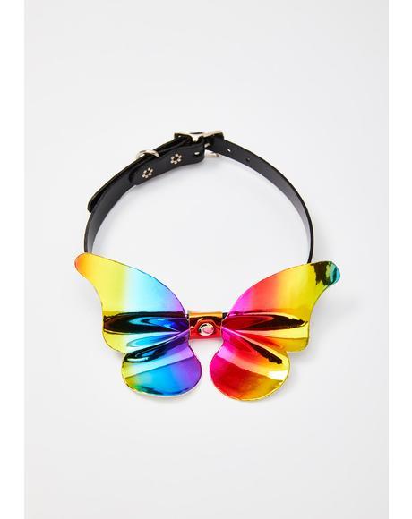 Technicolor Faerie Holographic Choker