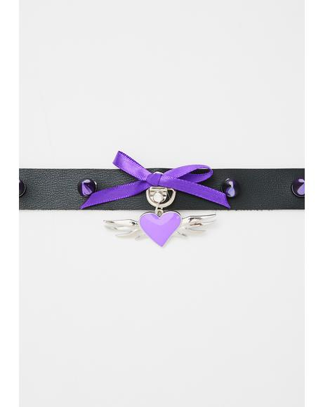 Naughty Nightshade Heart Choker