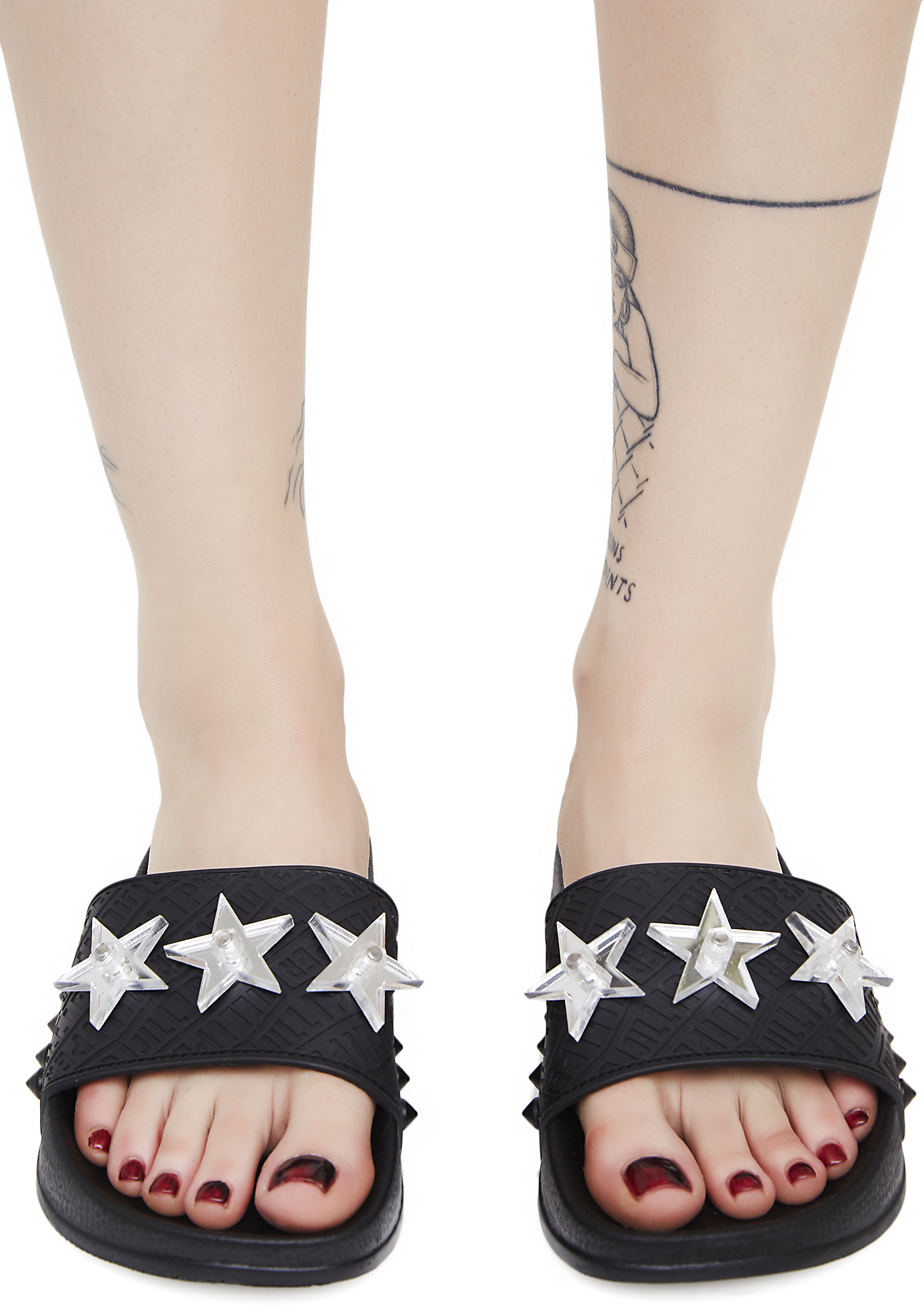 Black Star Slide Sandals