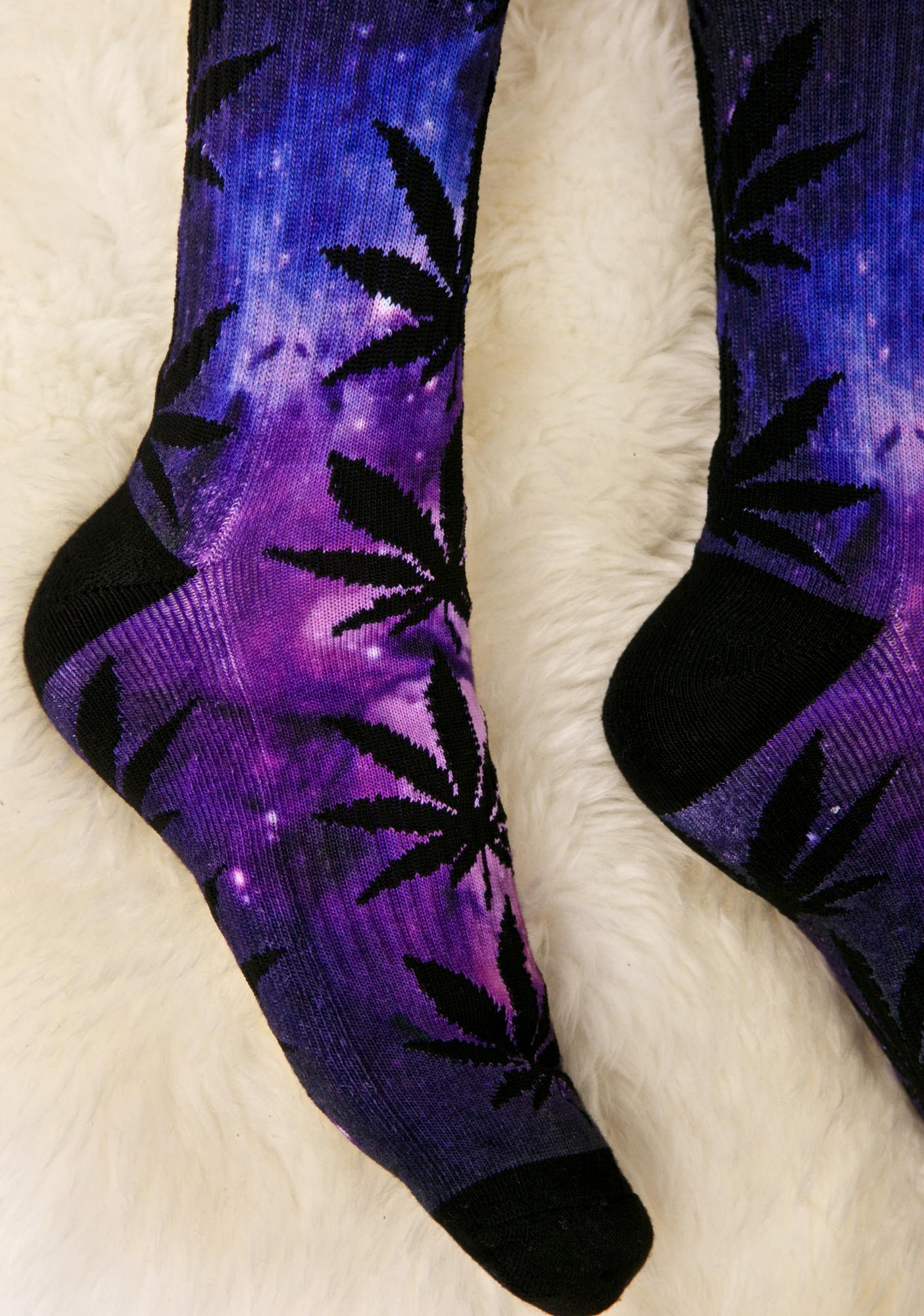 HUF Galaxy Plantlife Crew Sock