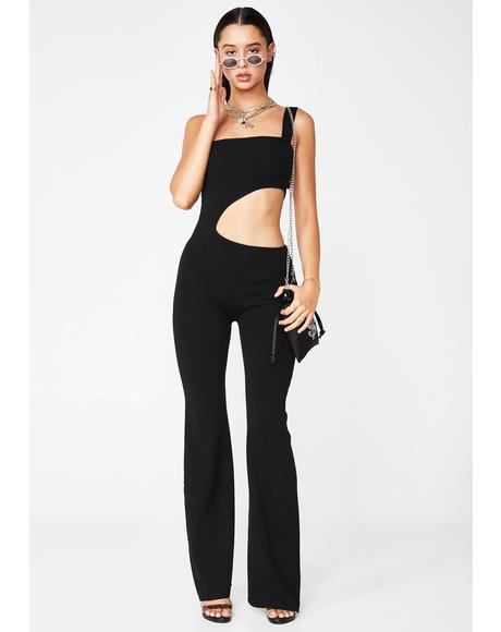 Bottle Service Cutout Jumpsuit