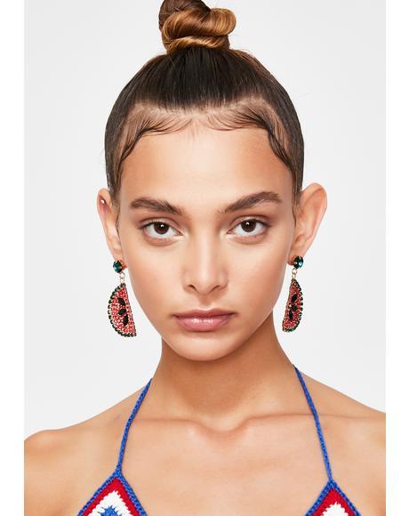 Slice Of Summer Watermelon Earrings