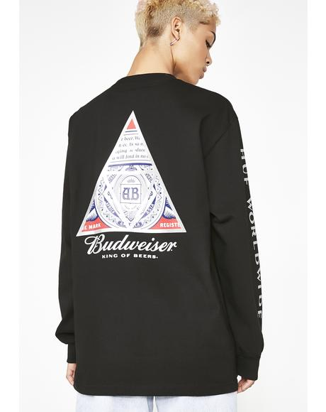 x Budweiser Triangle Long Sleeve Tee