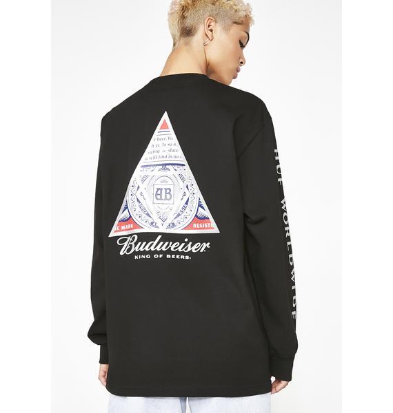 HUF x Budweiser Triangle Long Sleeve Tee