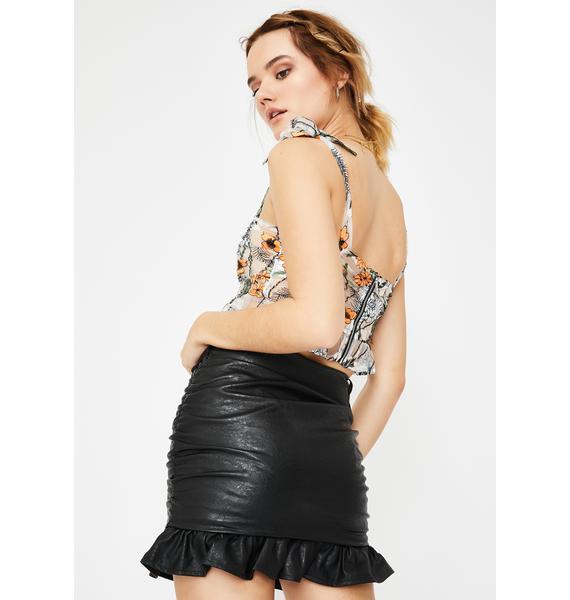 Ebonie N Ivory PU Micro Mini Skirt