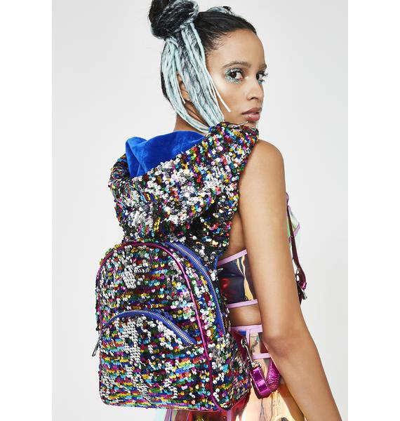 Club Exx Trippy Disco Hooded Backpack