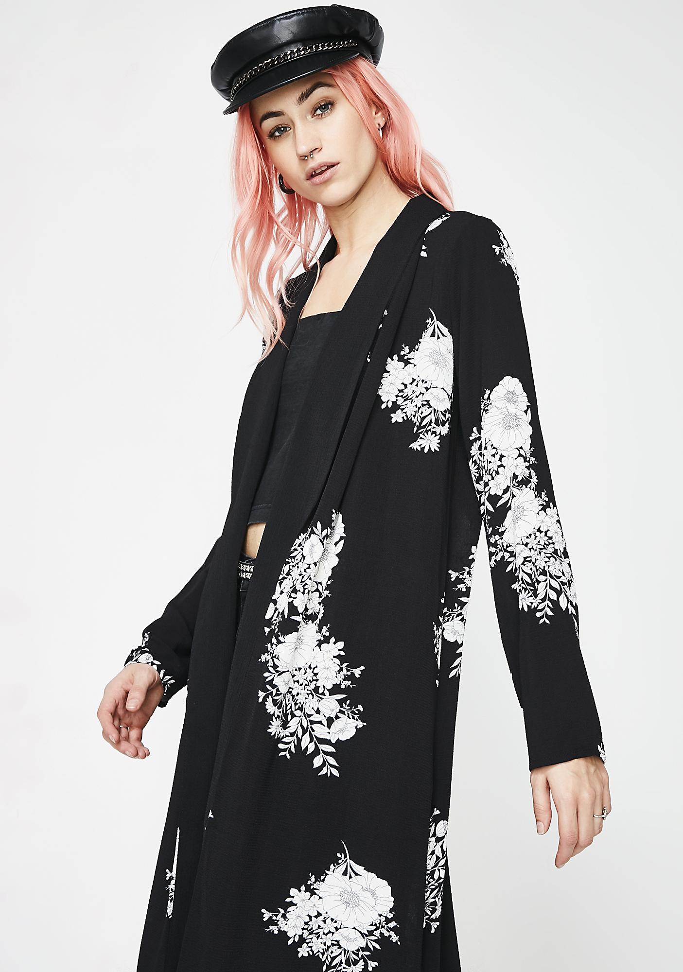 Beautiful Nightmare Flower Kimono