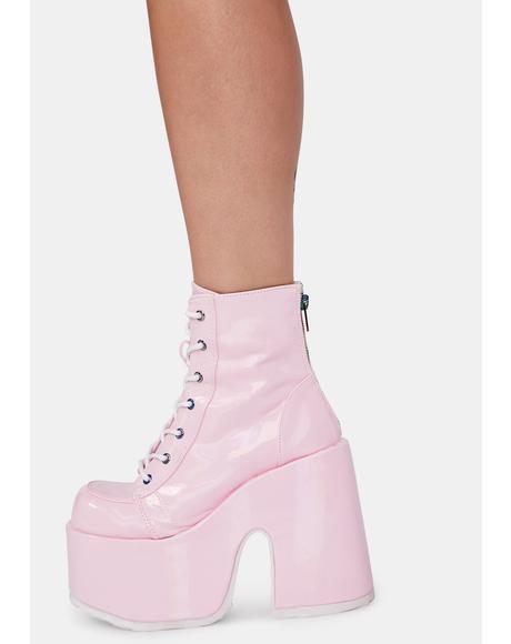 Bubblegum Rave Royalty Platform Boots