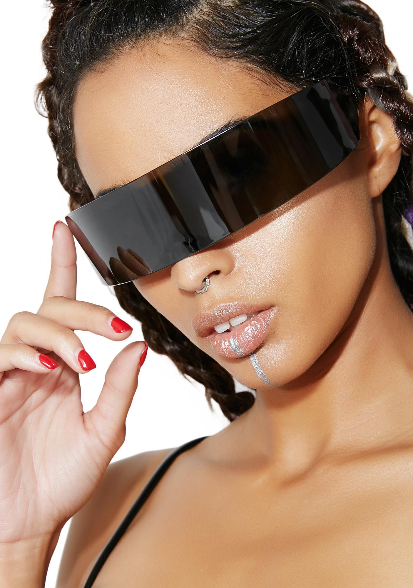 Dark Side Of The Moon Shield Sunglasses