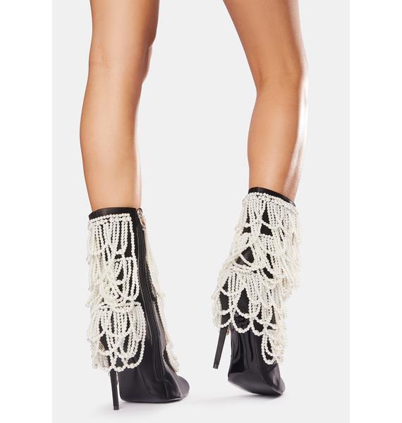 AZALEA WANG Megan Pearl Stiletto Booties