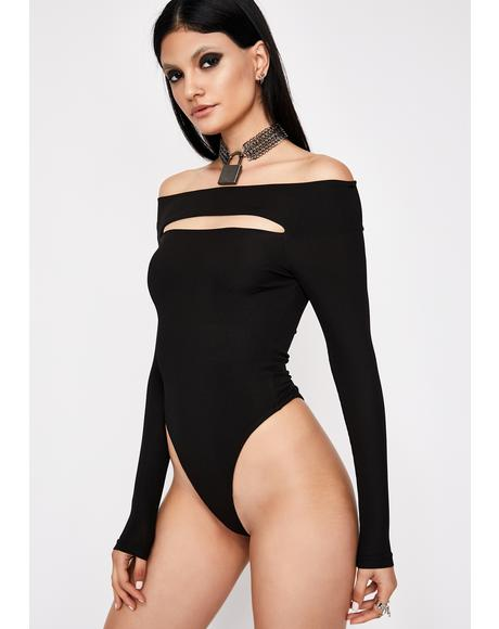 Dark Venus Delight Cutout Bodysuit
