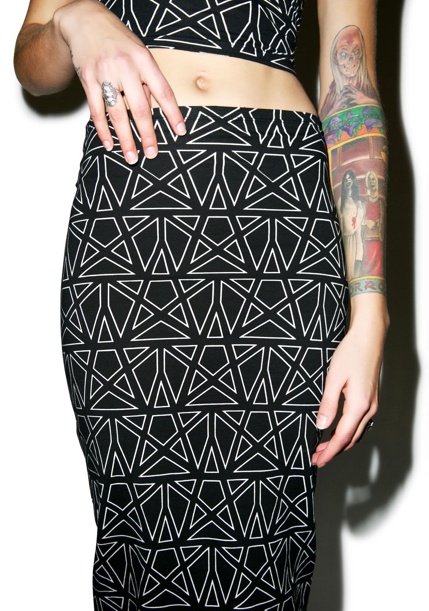 Motel Pentagram Bobby Skirt