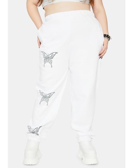 Curve Metallic Butterfly Sweatpants