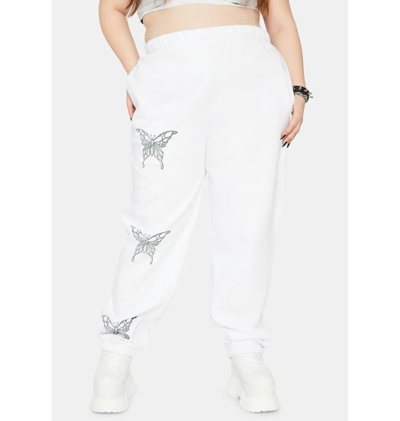NEW GIRL ORDER Curve Metallic Butterfly Sweatpants