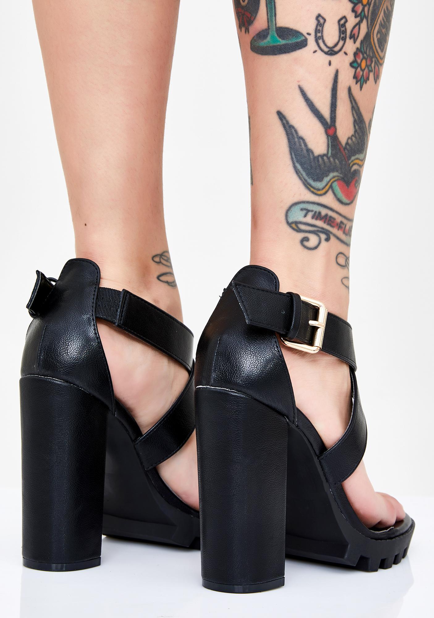 Take My Number Platform Heels