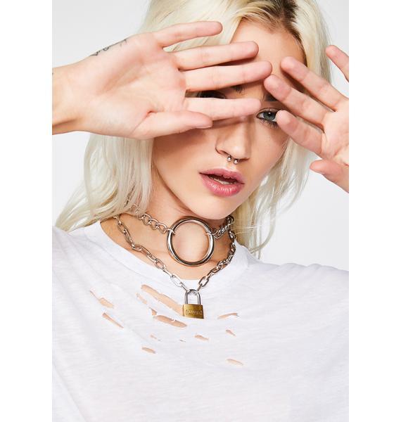 Shop Biohazard Chain O-Ring Choker