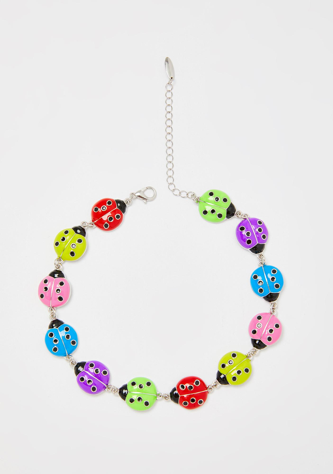 Flutter Free Ladybug Choker