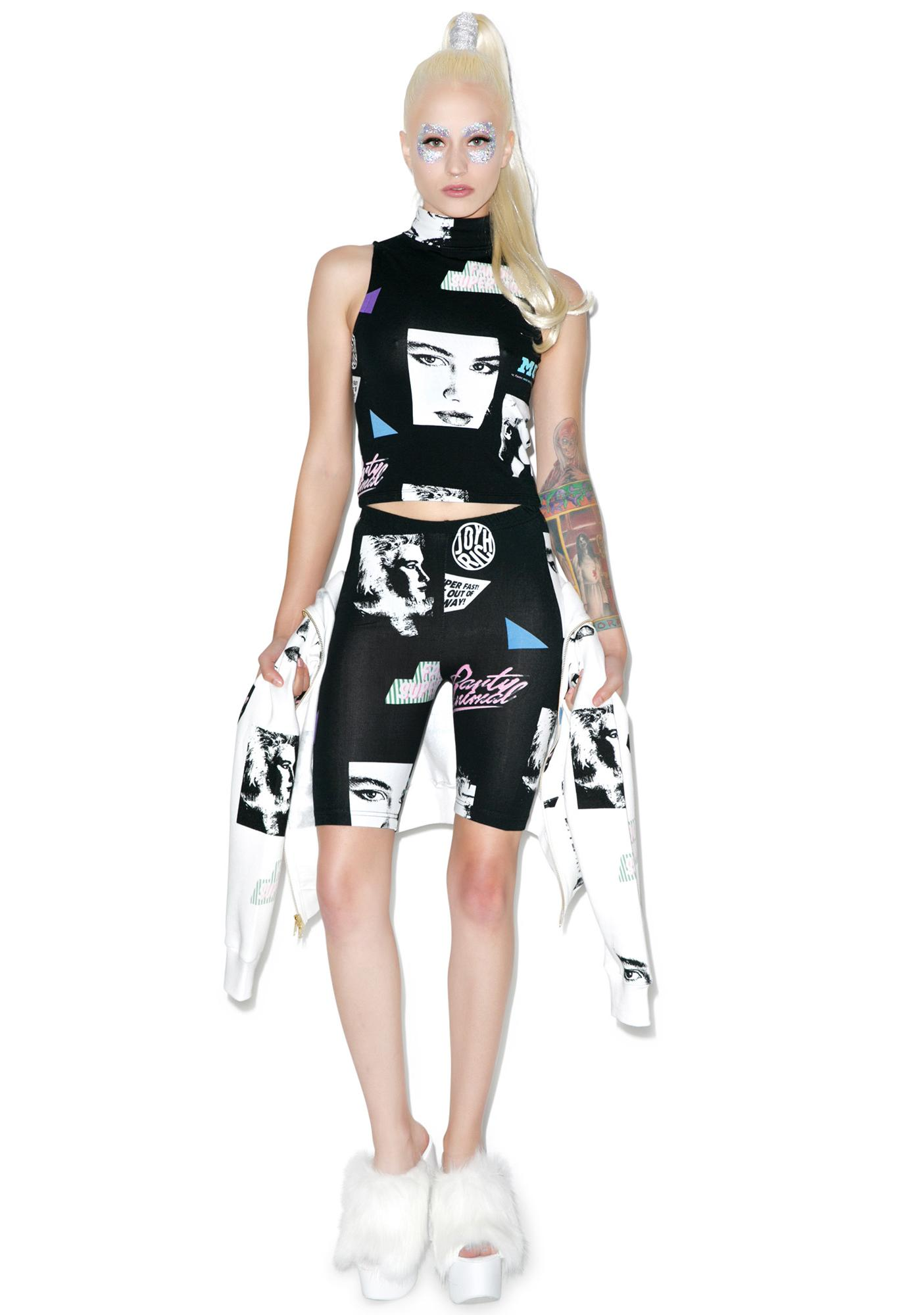 Joyrich Editorial Map Half Leggings