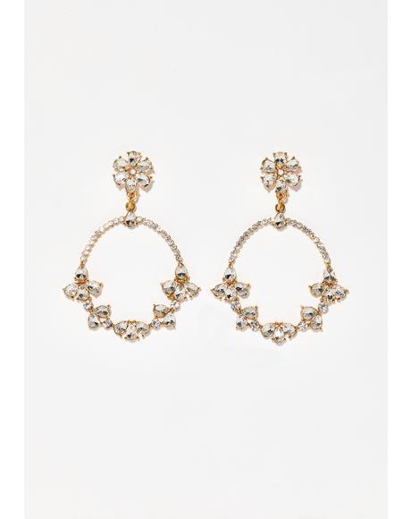Cash Talk Crystal Earrings