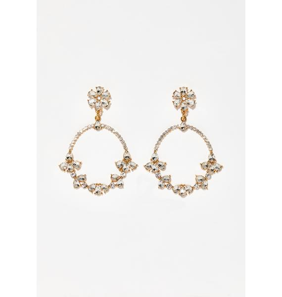 Cash Talk Crystal Earrings