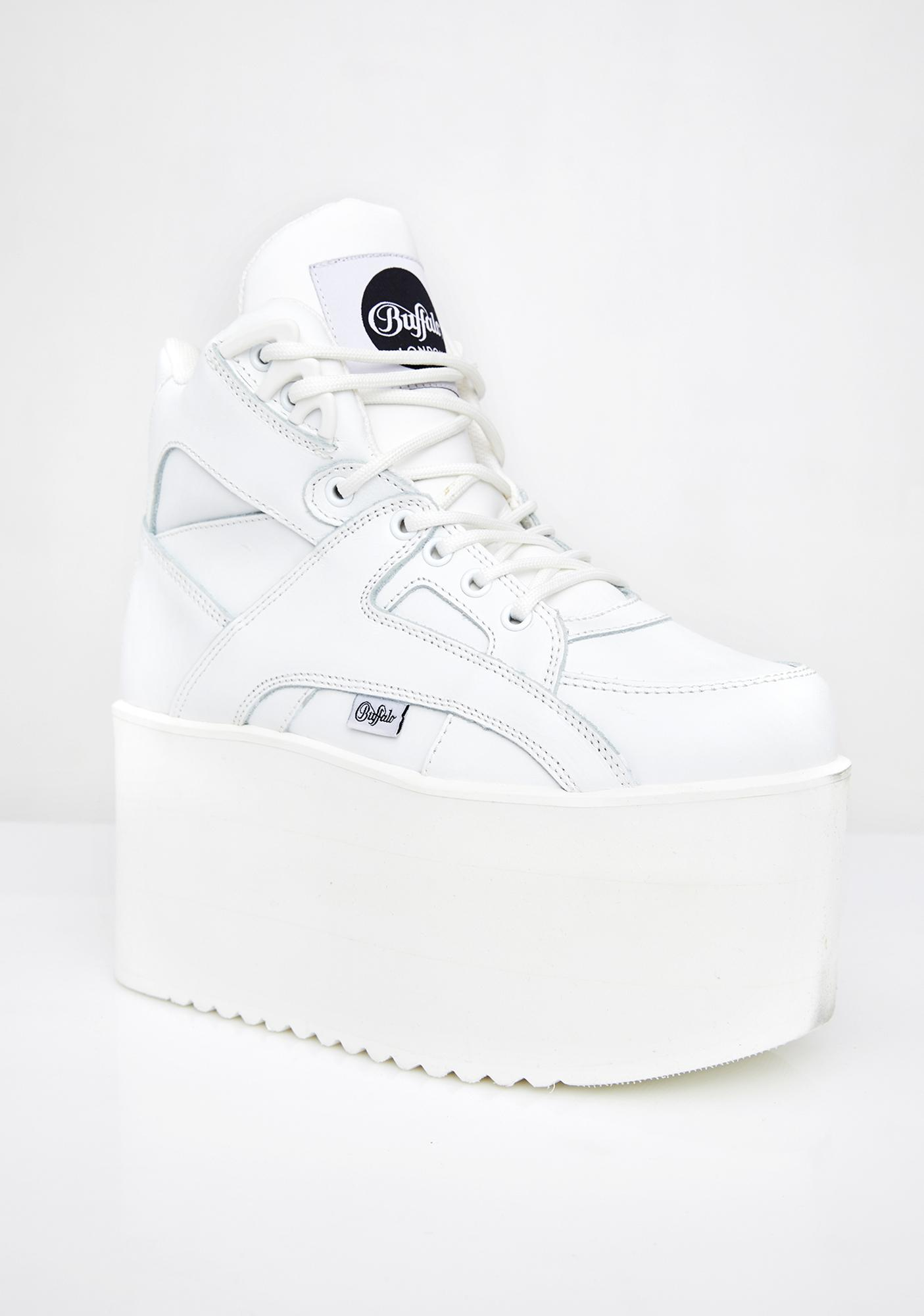 Buffalo London Rising Towers High Nappa Leather Sneakers
