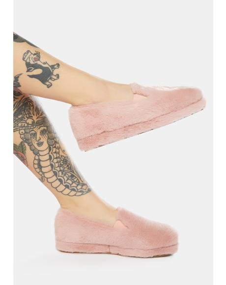 Blush Sleeping Pixie Fuzzy Slippers