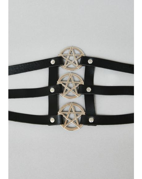 Enchanted Allure Pentagram Belt