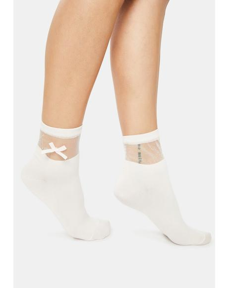 Cutie Confessions Bow Socks