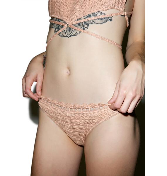 Somedays Lovin Daphne Crochet High Bikini Bottom