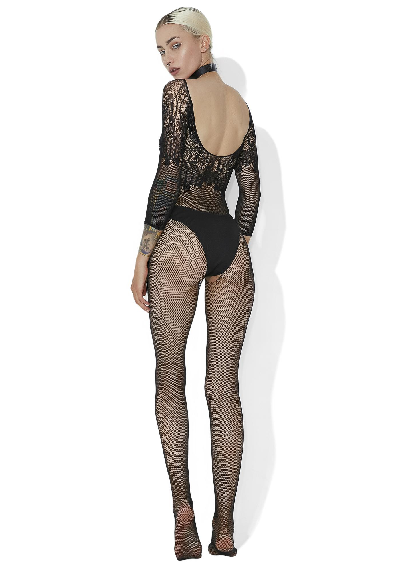 Sugar N' Spice Lace Fishnet Bodysuit