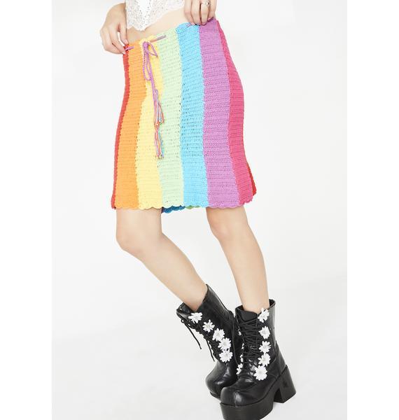 Fluffy Rainbow Dream Skirt
