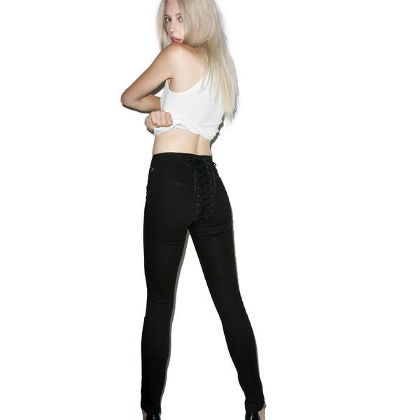 Tripp NYC High Waisted Corset Pants